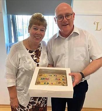 Pastor Clarke Anniversary Cake